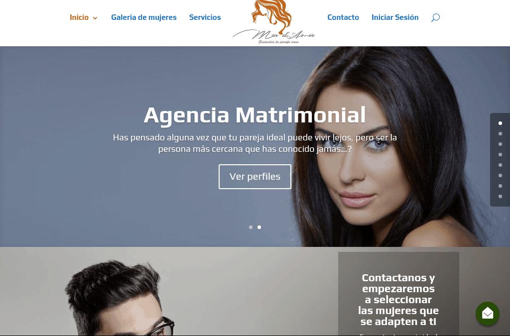 Nuevo diseño de la agencia matrimonial Mar de Amor
