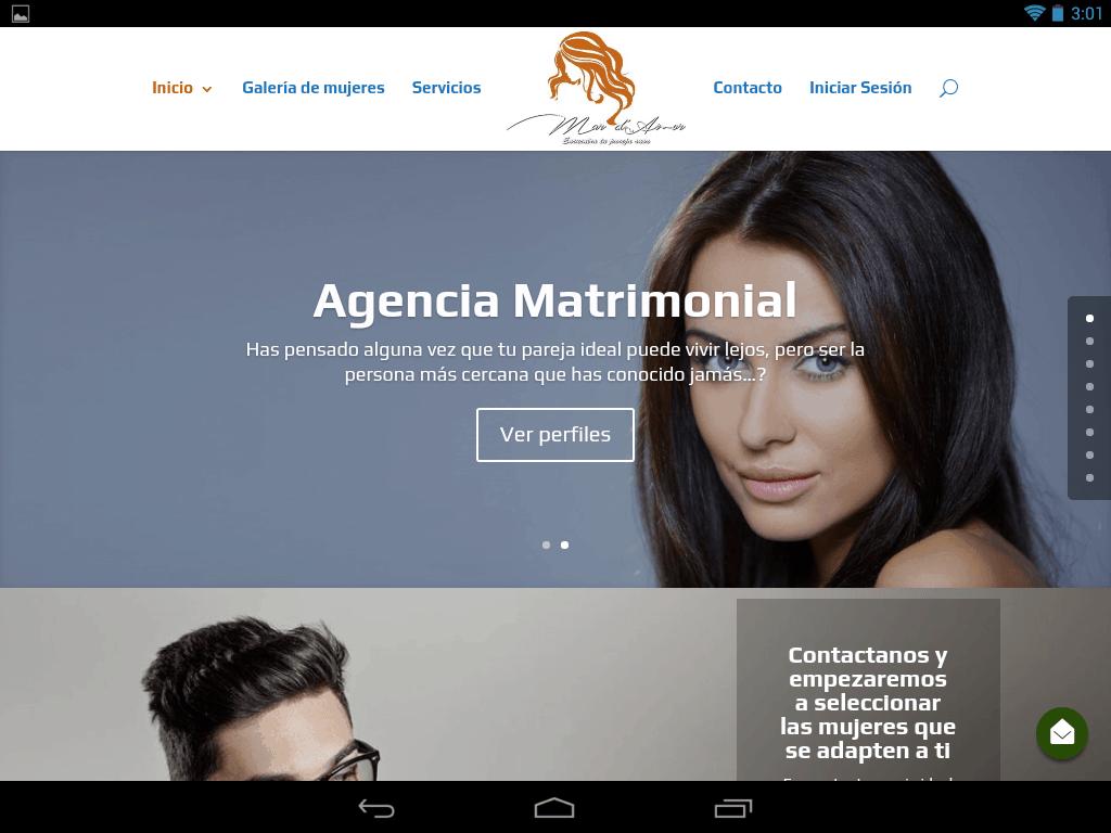 Captura de pantalla de parejaideal.agency