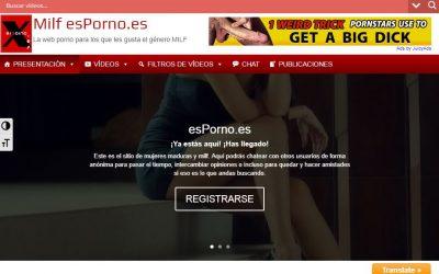 Diseño de la web esPorno.es