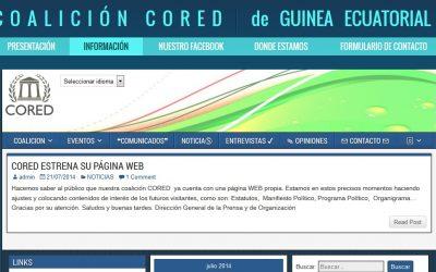 Diseño de Coalición CORED – Política de Guinea Ecuatorial