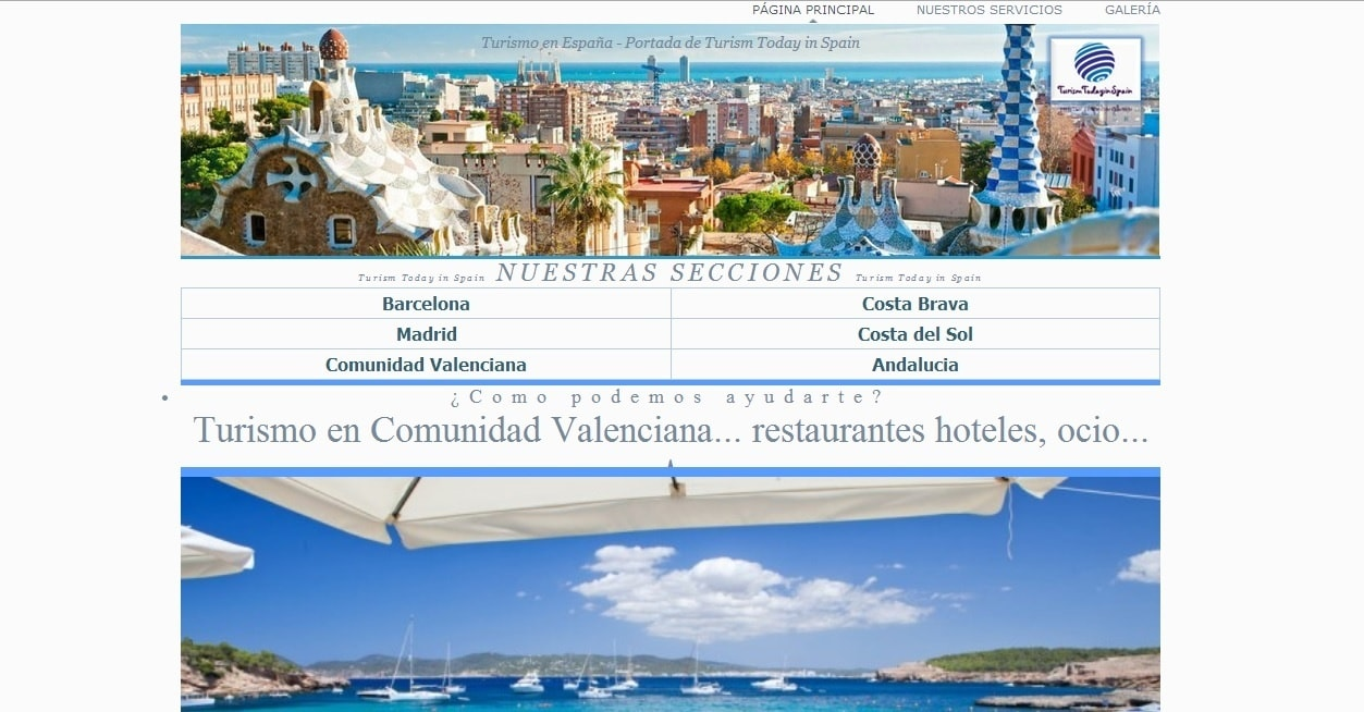 Diseño de Turism Today por SIAICA Soluciones Informáticas - Captura de Pantalla
