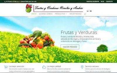 Diseño de Frutas y Verduras Nicolás y Andrés