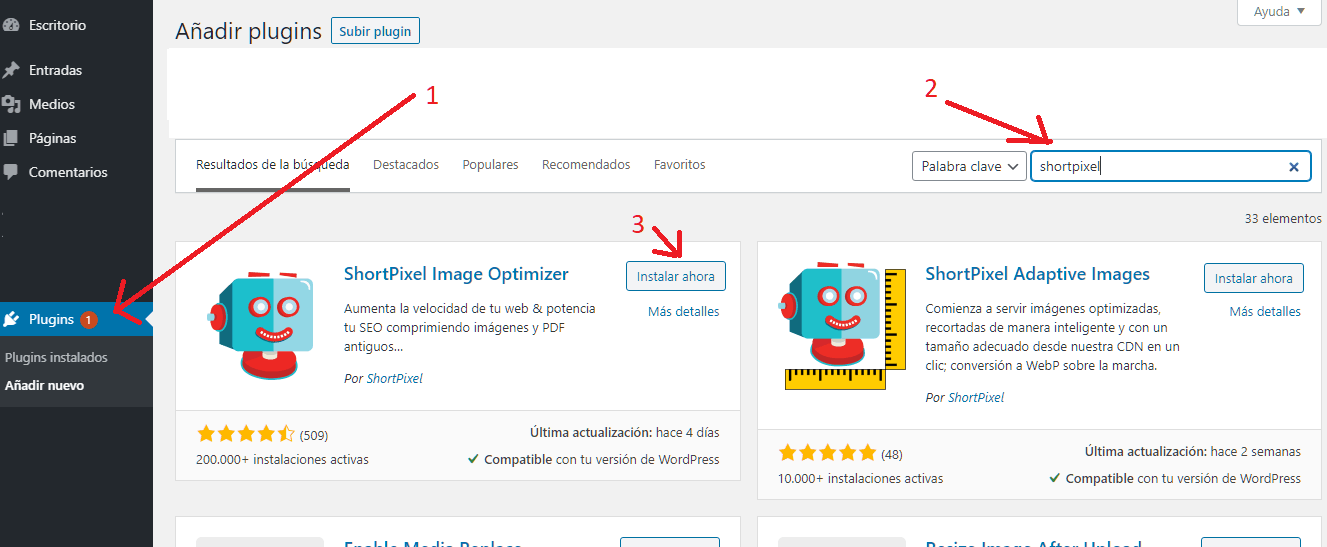 captura-pantalla-intalacion-plugin-wordpress-shortpixel