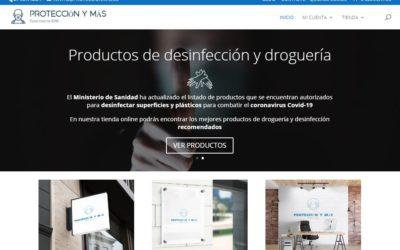 Diseño de la tienda online proteccionmas.es