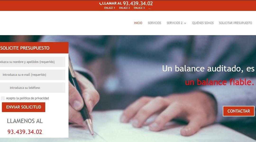 Re-Disseny web de l'empresa RCM Auditors