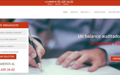 Re-Disseny web de l'empresa RCM Auditors
