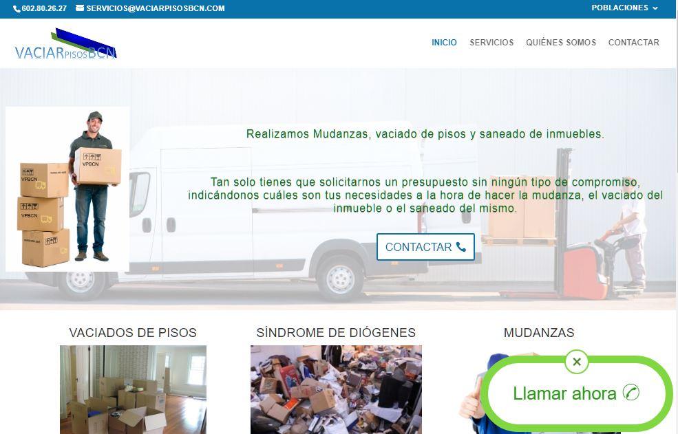 Construcció de la web VaciarPisosBCN