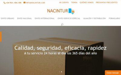 Construcción de la web para NACINTUR (una delegación de OLIMPOST)
