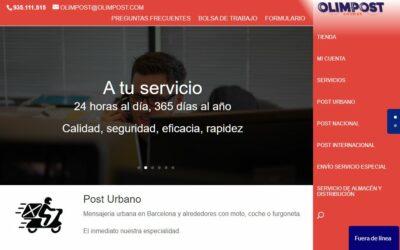 Nueva web para OLIMPOST (una empresa de envíos y mensajería)