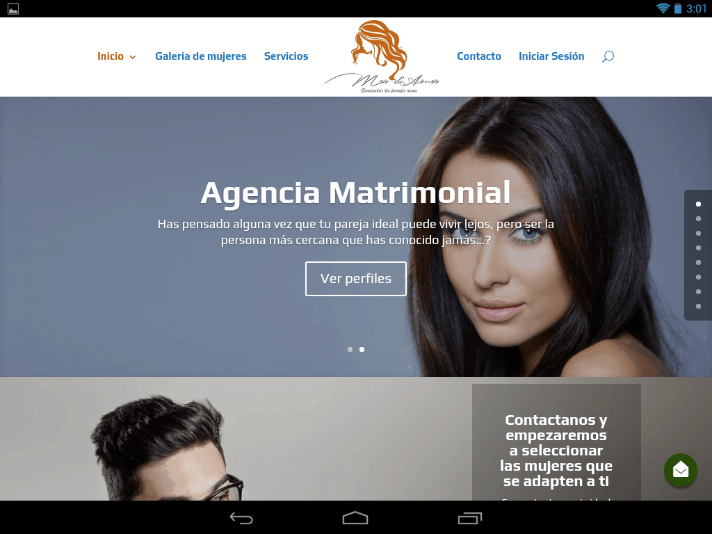 Captura de pantalla de parejaideal.agency