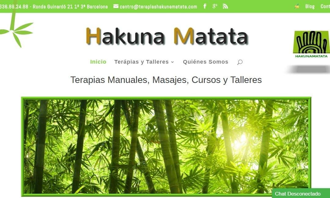 Disseny del web per Centre de Teràpies Naturals Hakuna Matata
