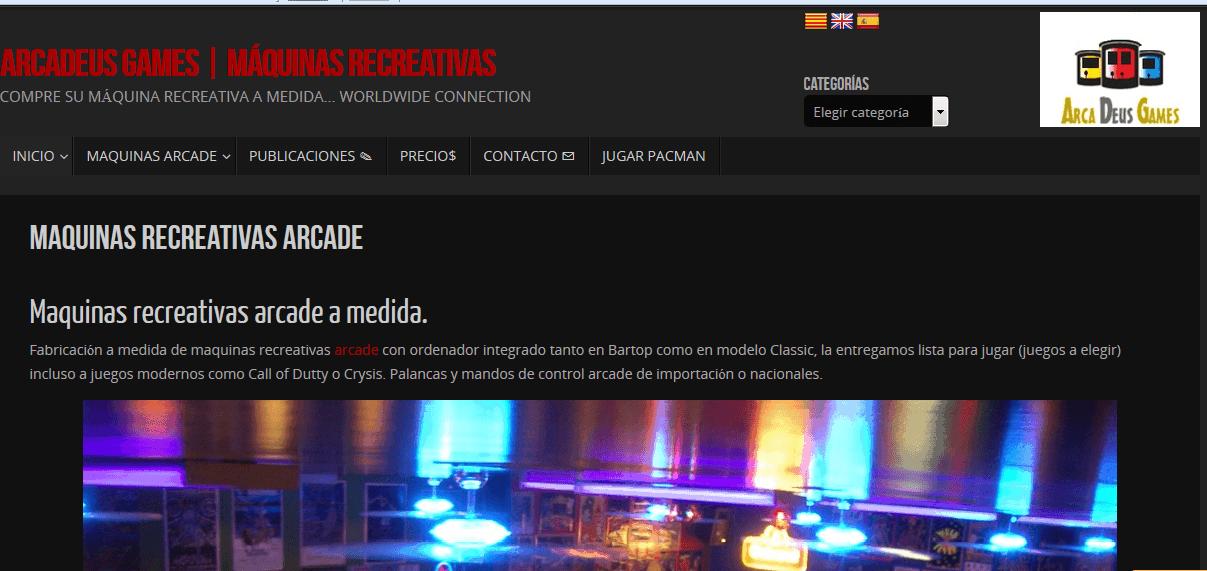 Captura de pantalla del diseño de Arcadeus Games