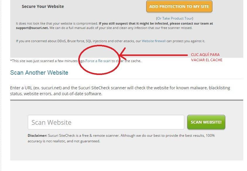 Analiza tu sitio y comprueba vulnerabilidades en tu web como malware y otras amenazas