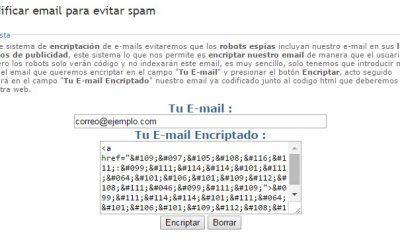 Evitar Spam al correu electrònic encriptant l'email