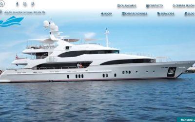 Disseny de la web de lloguer de vaixells alquila-me.com