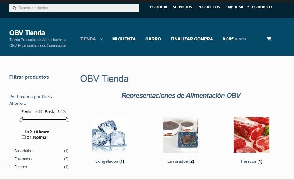 Disseny de OBV – Representacions d'Alimentació