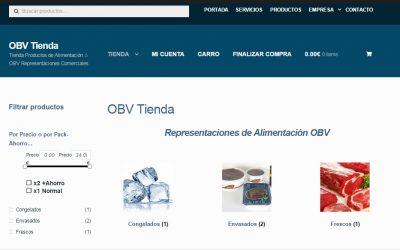 Diseño de Tienda OBV – Representaciones de Alimentacion