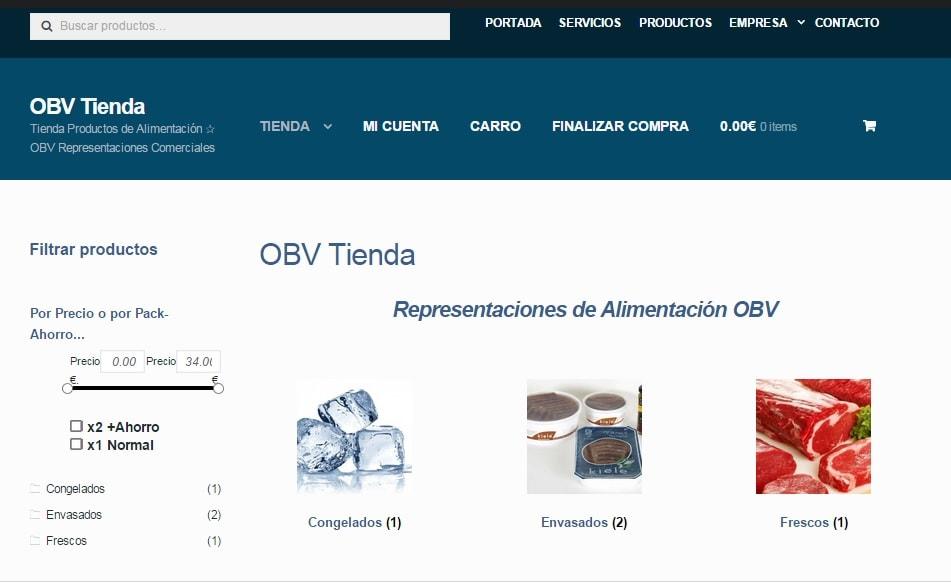 Disseny de Botiga OBV – Representacions d'Alimentació