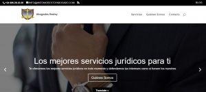 Diseño web del Bufete Abogados Restoy