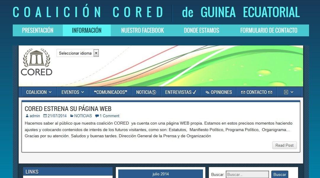 Disseny de Coalició CORED – Política de Guinea Equatorial