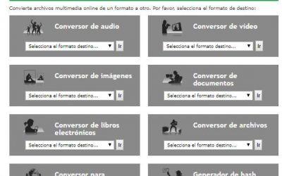 Convertir a diferentes formatos digitales