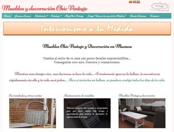 Diseño Chic Vintage Masnou | Muebles exclusivos, decoración e interiorismo Vintage
