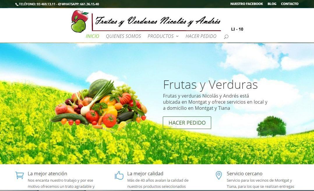 captura de pantalla de fruitesiverdures-es