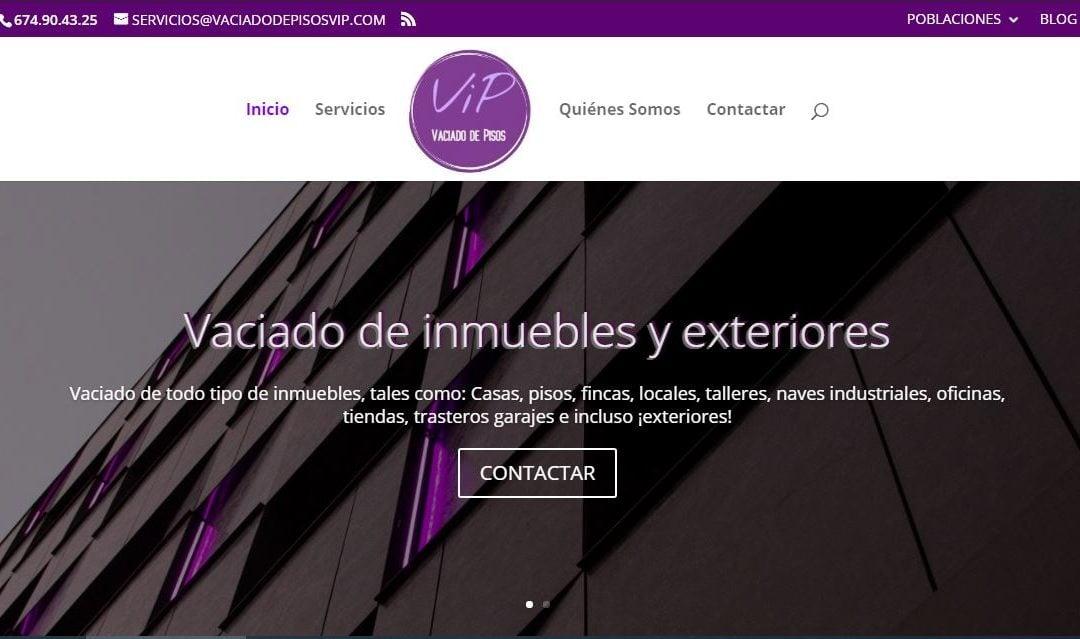 Una altra web amb serveis de mudances i sanejat d'immobles