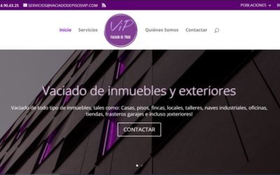 Otra web con servicios de mudanzas y saneado de inmuebles