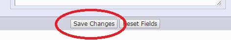 Desa els canvis per aplicar el seu URL d'inici del lloc