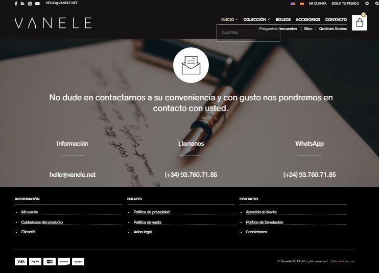 Re-diseño de Vanele